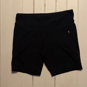 Danskin Now Fitted Yoga Shorts Black Spandex XS